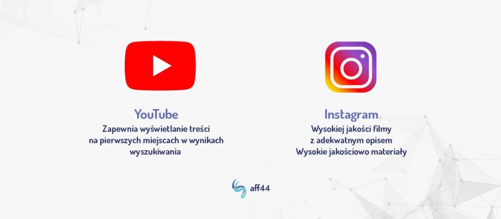 Youtube i Instagram to bardzo popularne platformy i warto z nich skorzystać dla pozyskania jakościowego ruchu